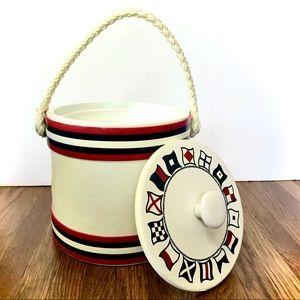 Vintage Kraftware Nautical Sailing Flag Ice Bucket